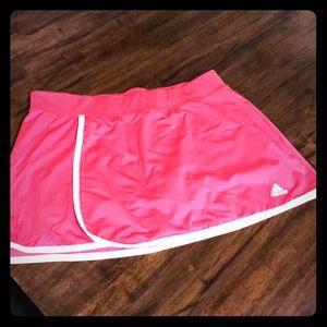 Pink Adidas climalite athletic skort